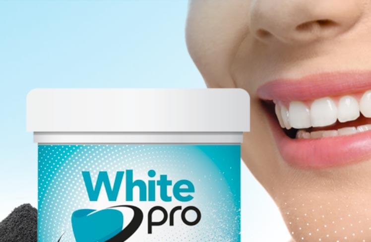 white pro polvere sbiancante denti